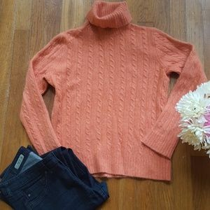 J.Crew Orange Rust Wool Cashmere Sweater